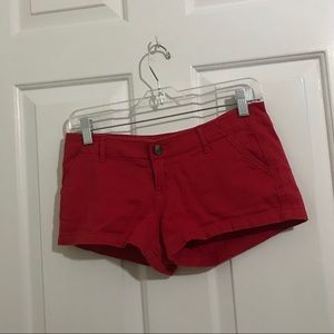 5/$45 Hollister Red Size 1 Juniors Shorts